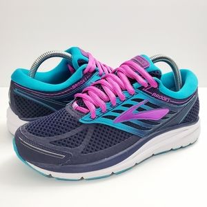 Brooks Addiction 13 Blue Teal Pink Athletic Shoes
